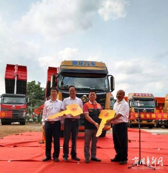 玉柴YC6K燃气机配乘龙H7牵引车小批登陆海南