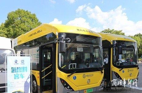 江苏盐城氢燃料电池公交大巴正式投入示范运营