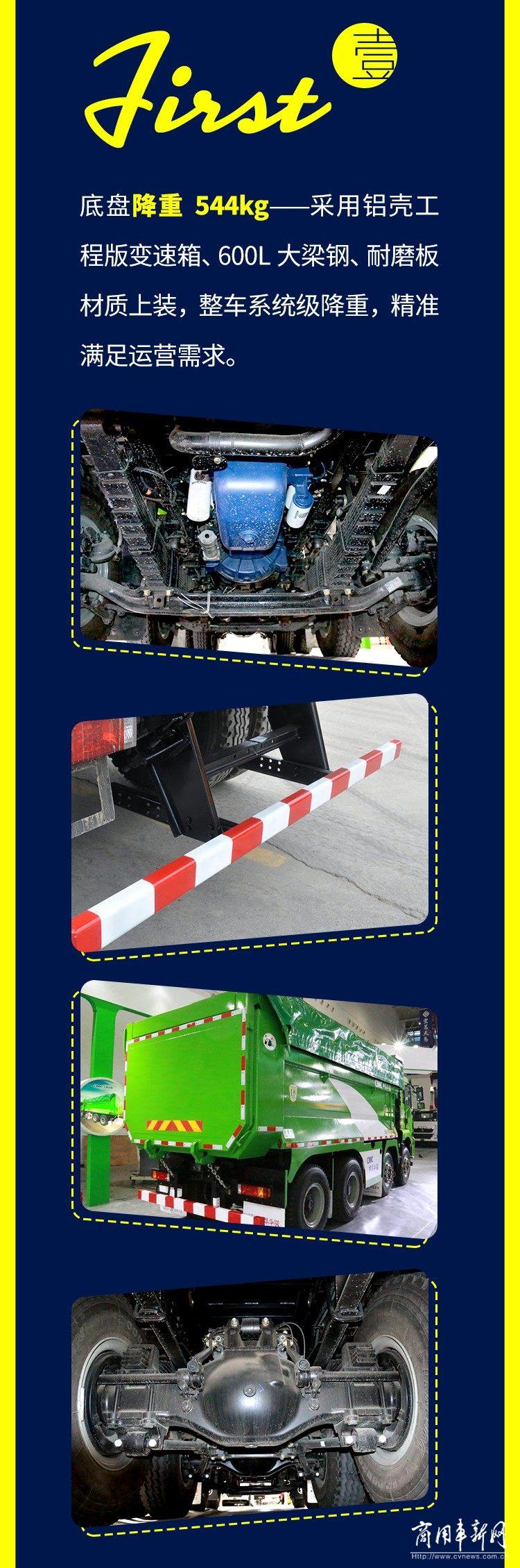 德龙新M3000 8×4 标准版渣土车 树立城建运输全新标杆