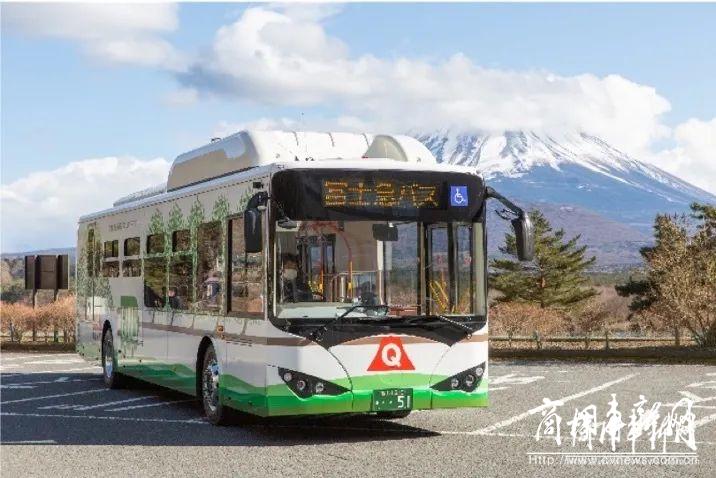 比亚迪纯电动大巴驶入富士山 助力当地开辟电动出行新方式