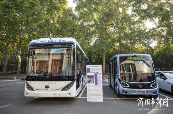 宇通自动驾驶氢燃料客车亮相 2020中国(郑州)产业转移系列对接会