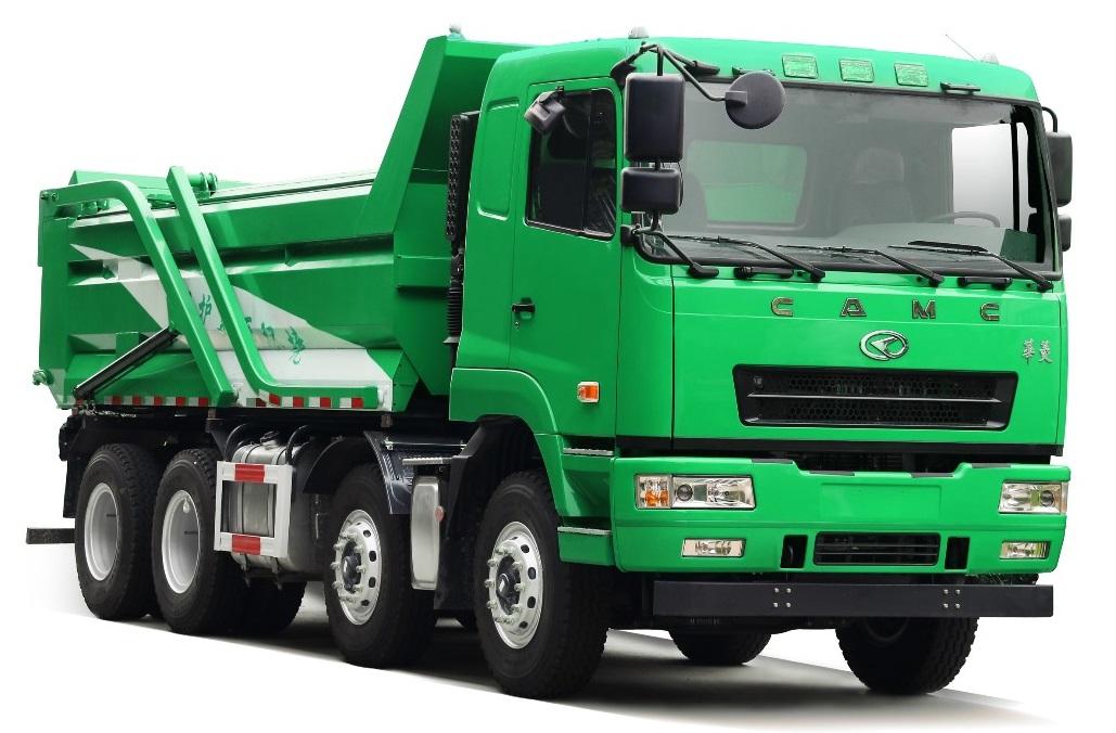 绿色、环保、安全 华菱星马整体式盖板城市渣土车