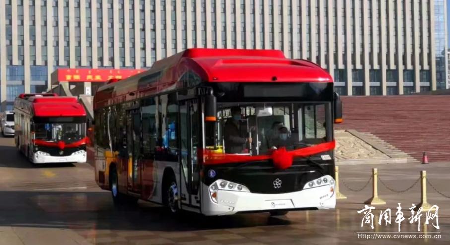 """""""犇""""腾出发!银隆氢燃料电池公交批量进驻乌海"""