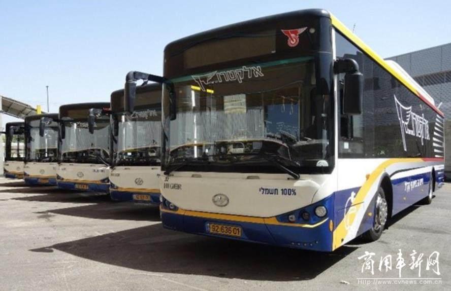 """借""""丝路东风""""唱响中国品牌 31台苏州金龙天然气公交奔赴以色列"""