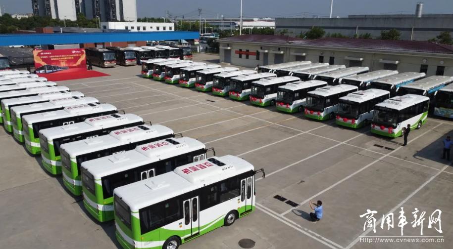 新能源公交车100%覆盖,安凯批量交付经开公交