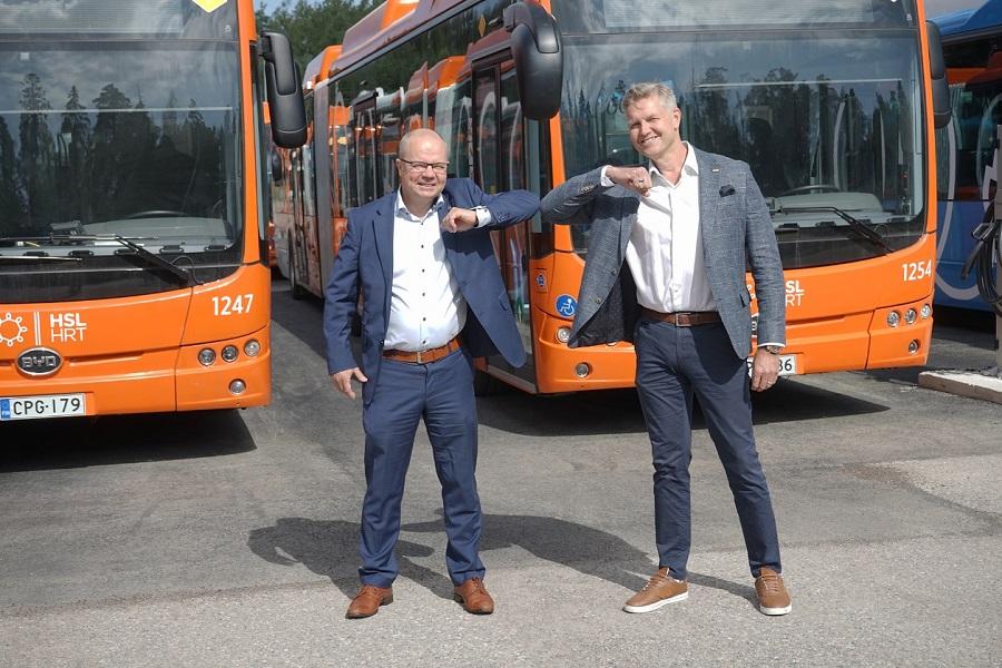 """比亚迪首次驶入芬兰首都赫尔辛基 加速""""千湖之国""""公交电动化进程"""