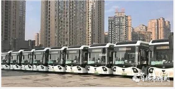 """120台黑科技加持公交服务郫都,""""城市之舟""""氢装运行"""