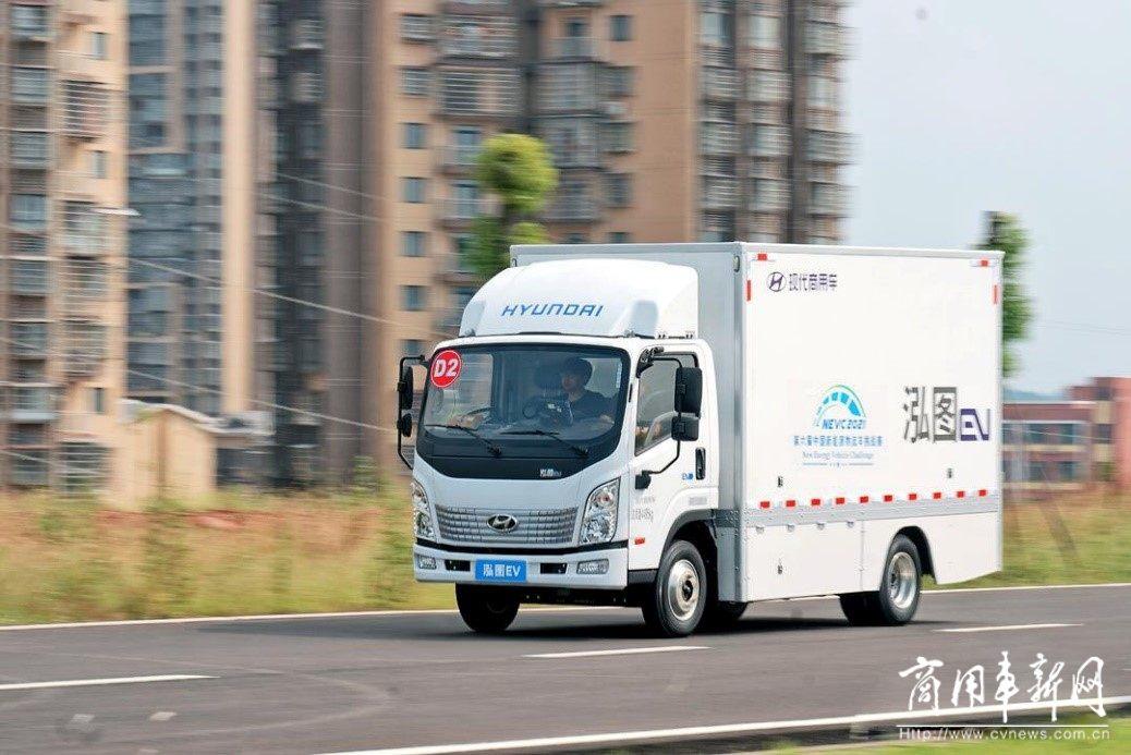 不惧挑战  泓图EV在中国新能源物流车挑战赛中大展实力